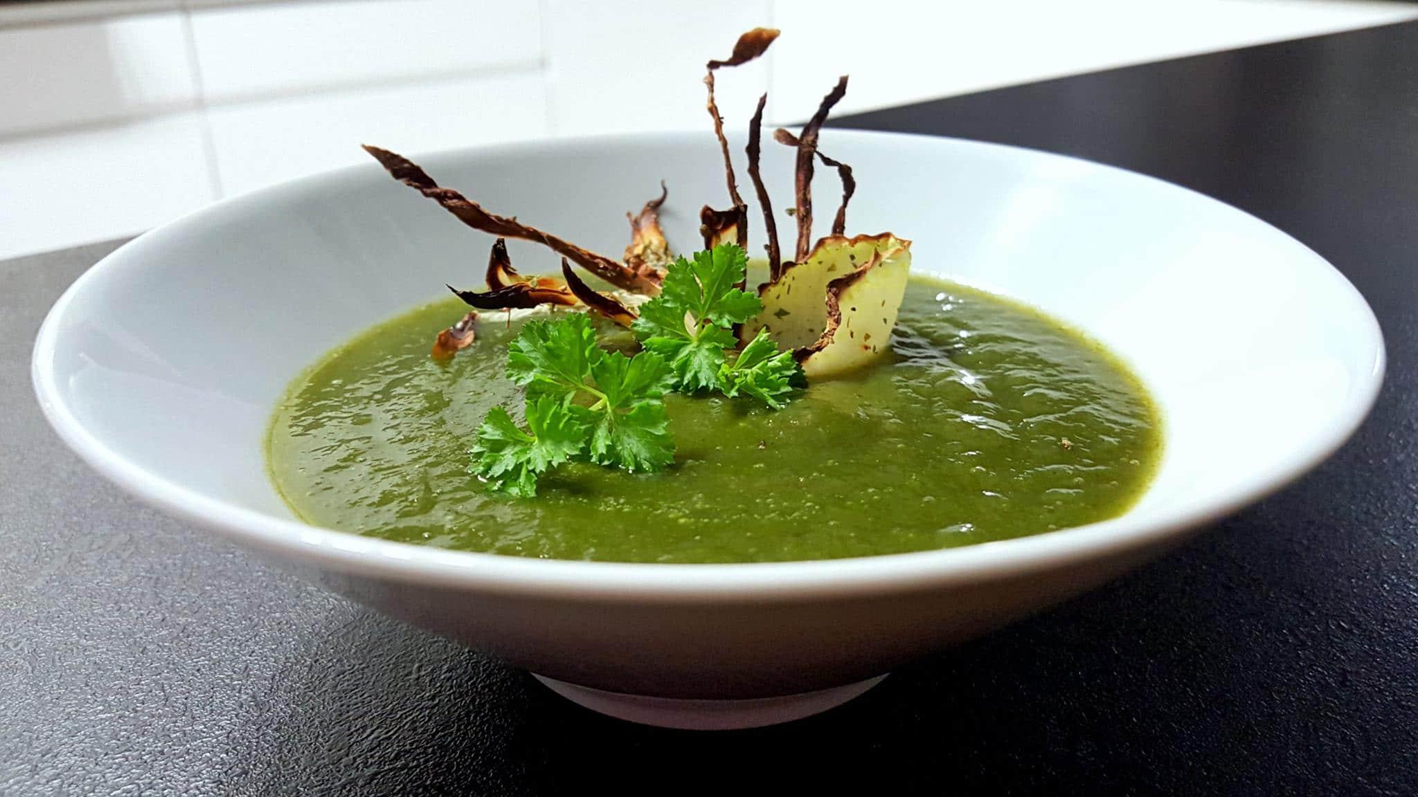 Zupa krem z kalarepy i szpinaku
