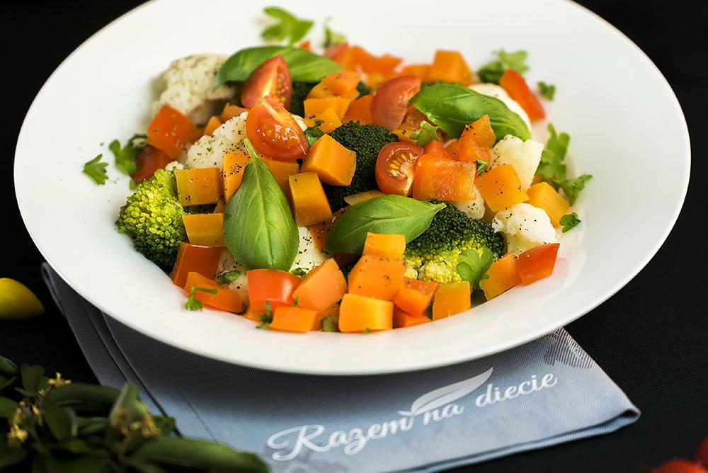 Duszony bukiet warzyw