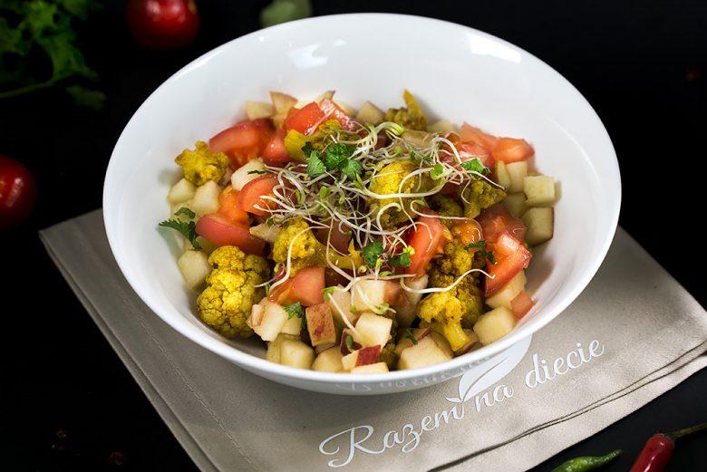 Sałatka z kalafiora w curry