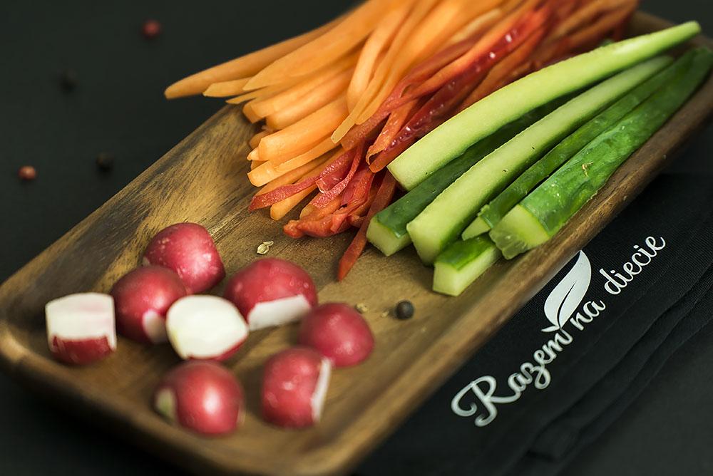 Kolorowa deska warzyw